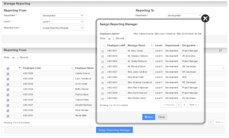 Auto Assign Reporting Manager